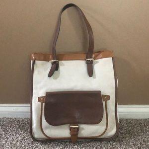 Longchamp Canvas Tote Bag